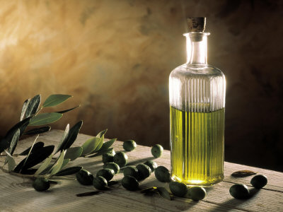 Olive-Oil-in-Bottle-Olives-Posters