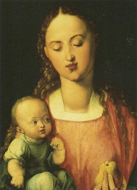 La vierge à la poire, Albrecht Dürer, 1526