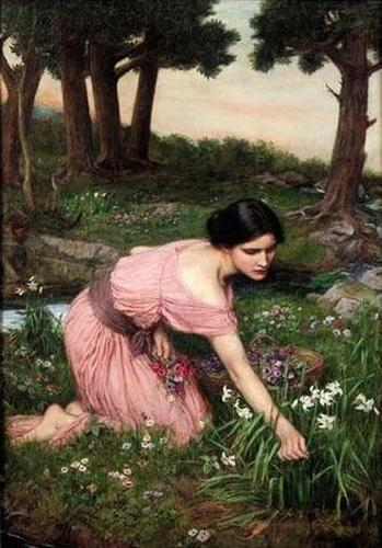 John_William_Waterhouse_-_Spring_Spreads_One_Green_Lap_of_Flowers_(1910)