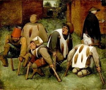 Pieter Brueghel l'Ancien, Les mendiants, 1568