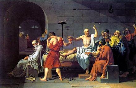 La mort de Socrate, par David.