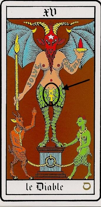 Arcane XX, Le Diable. Tarot d'Oswald Wirth.